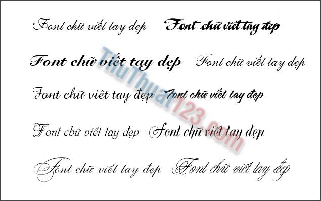 Font Chu Viet Tay Net Thanh Net Dam