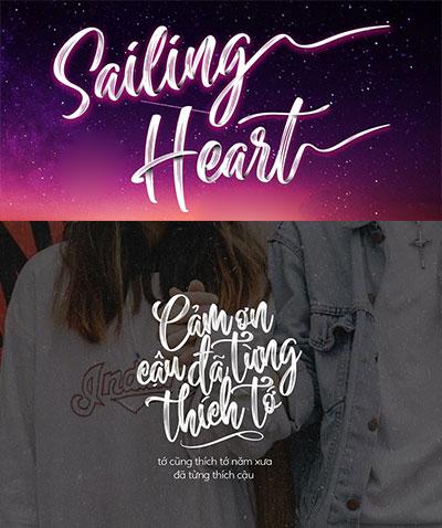 MTD Sailing Heart Typography Việt Hóa