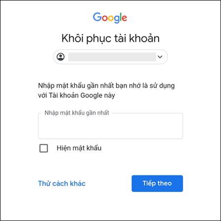 Google sẽ chuyển sang giao diện khôi phục tài khoản