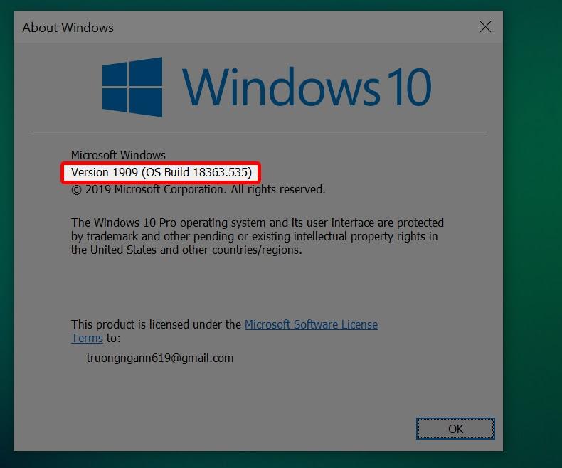 Phiên bản Windows 10