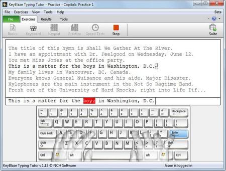 Phần mềm luyện gõ 10 ngón online KeyBlaze Typing Tutor