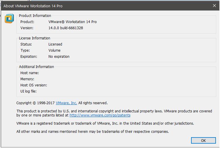 Vmware Workstation 14 1